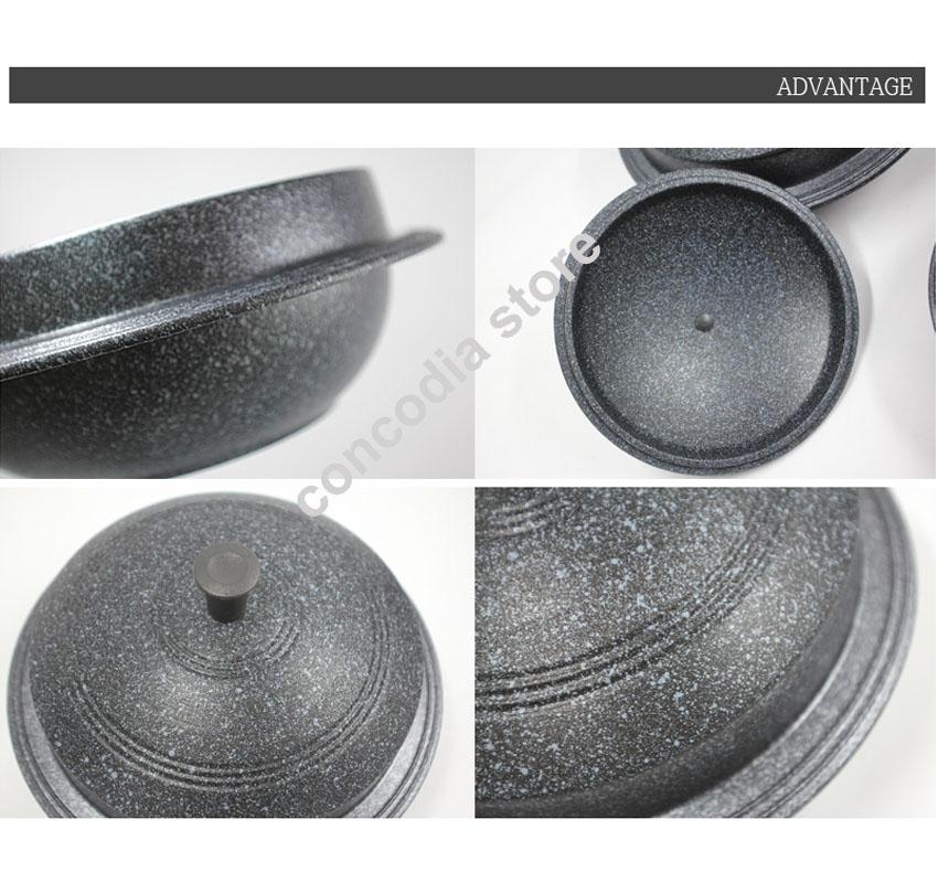 Kitchen Art 24cm: Korea Traditional Rice Cooker Cast Iron Pot (GAMASOT) Non